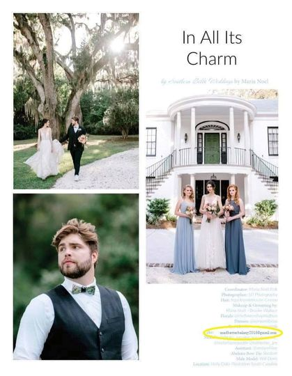 Bakery featured in bridal mag.
