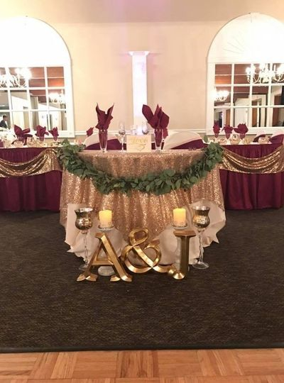 Couple's table set-up