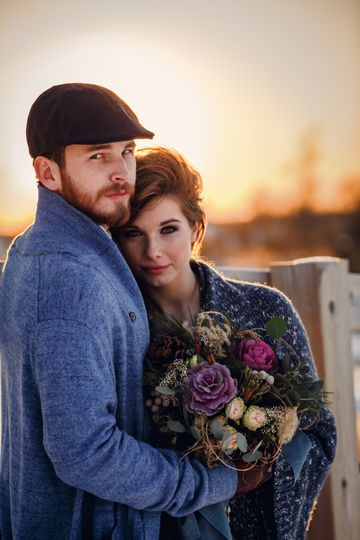 Winter Wedding with florals