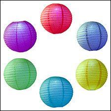 color led party lanterns