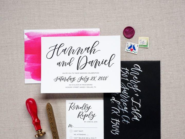 Tmx Hannah Suite 3 51 1005203 Dallas, TX wedding invitation