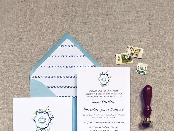 Tmx Olivia Suite 1 51 1005203 Dallas, TX wedding invitation