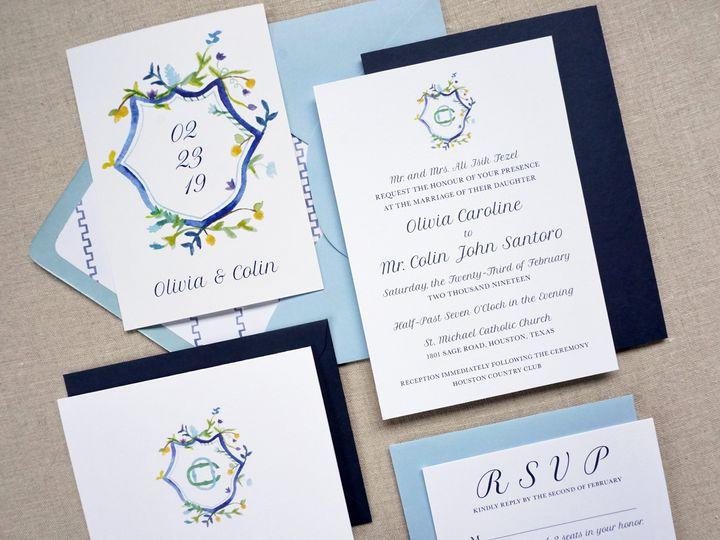 Tmx Olivia Suite 4 51 1005203 Dallas, TX wedding invitation