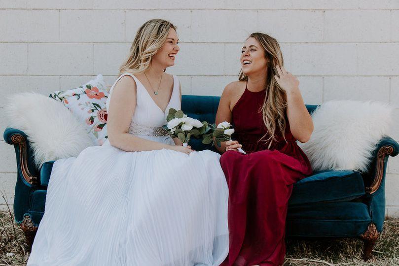 Bride + Bridesmaid