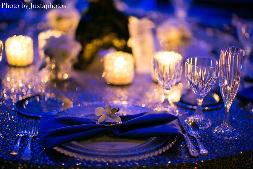 Romantic candle lighting