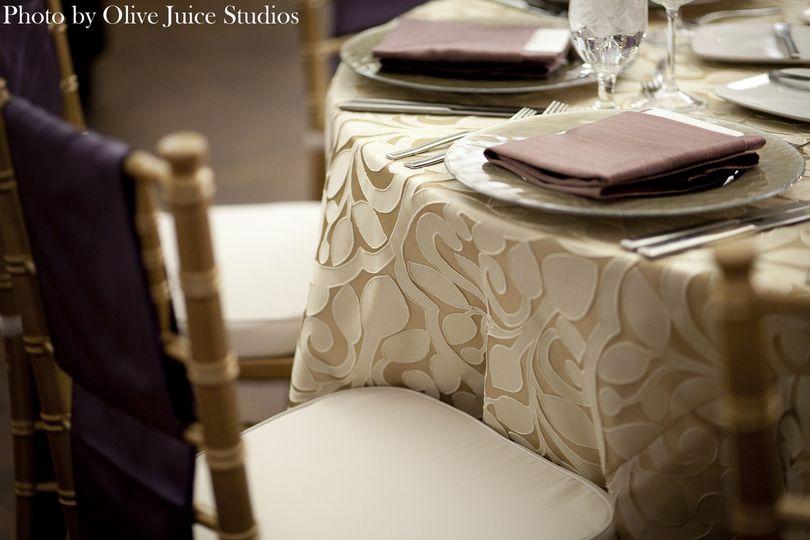 Beige pattern linens