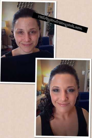 This is a bridal trial. airbrush makeup and lashes pulled her look together to give her skin a...