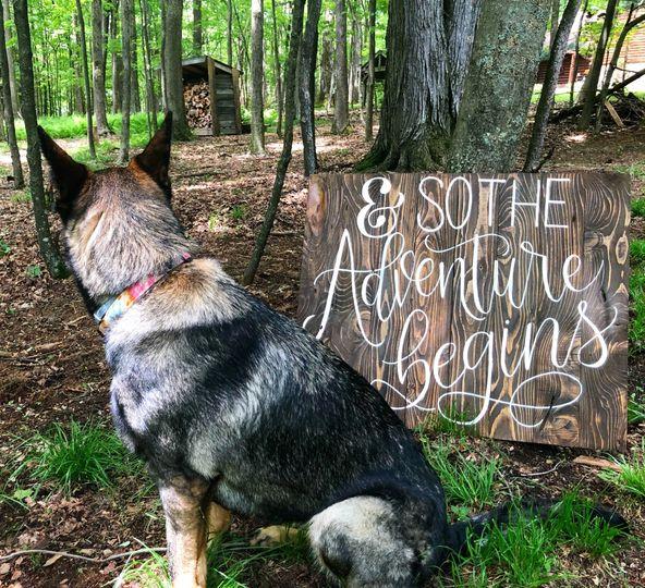 Pup + Wedding Signage