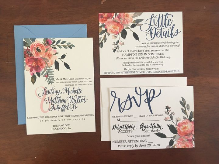 Custom Lettered Invitations