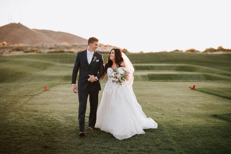 Wedding red Hawk golf course