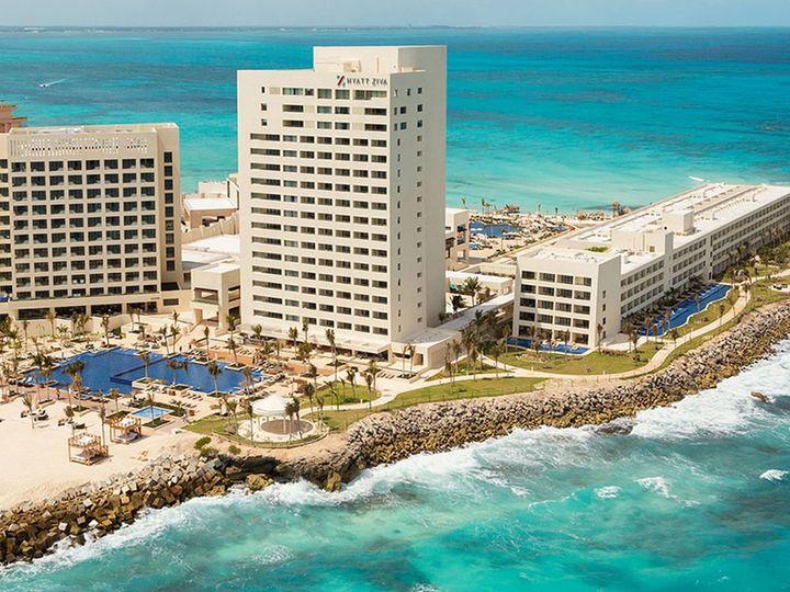 Tmx 1528211728 E83965451b325aac 1528211726 B66443551a9e0326 1528211758617 64 Hyatt Ziva Cancun Dallas wedding travel