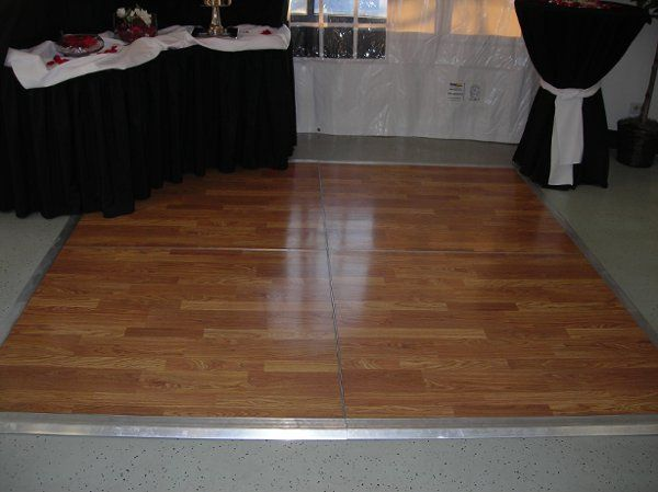 This is a close-up of an 8'x8' dance floor.