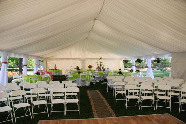 This canopy is set up for both ceremony and reception, with the ceremony taking place on the dance...