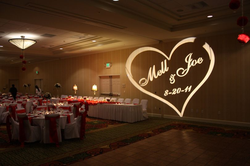 Wedding gobo lighting