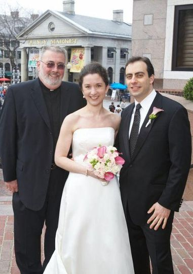 Portrait with the newlyweds