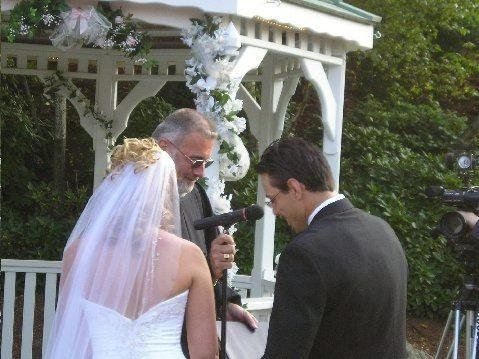 Groom reciting his vows