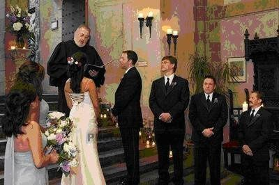 Groomsmen watching the marriage
