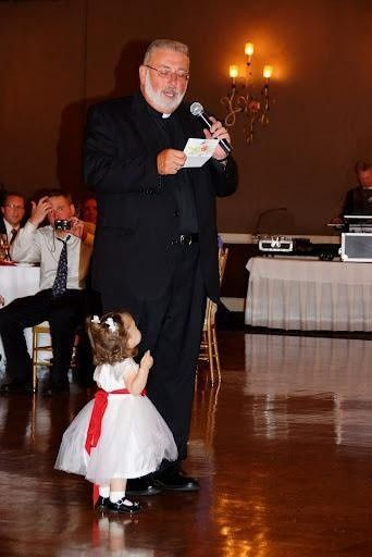 Flower girl and the officiant