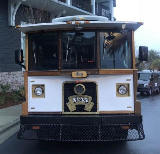 classic wood trimmed trolley