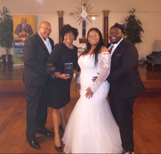Inside wedding ceremony