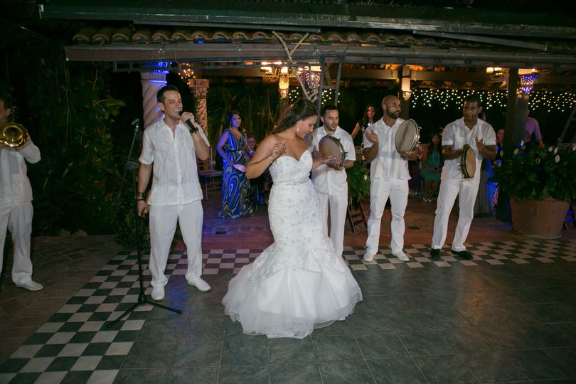 Bride dancing with us!