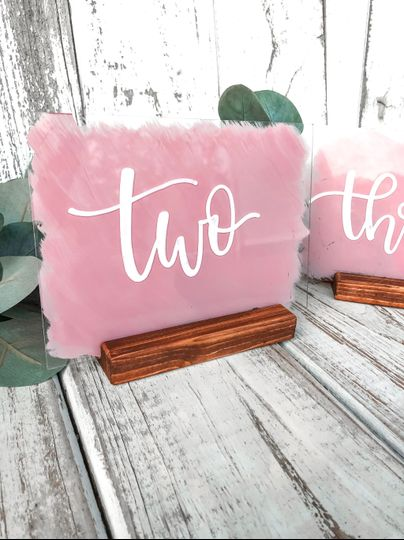 Acrylic table numbers & stands