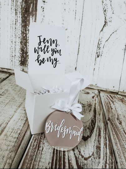 Bridesmaid Proposal Ornaments