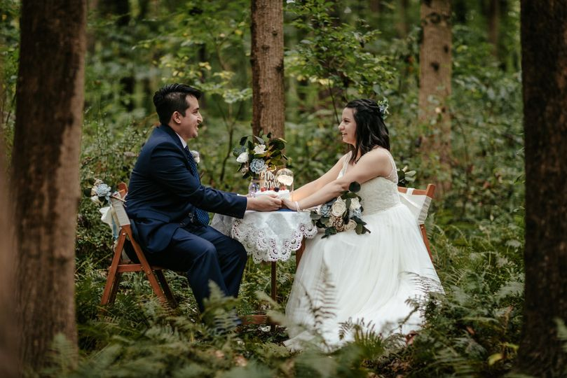 Romantic Picnic in a forest