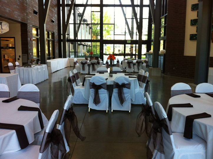 Summer reception in the Salish Hall.