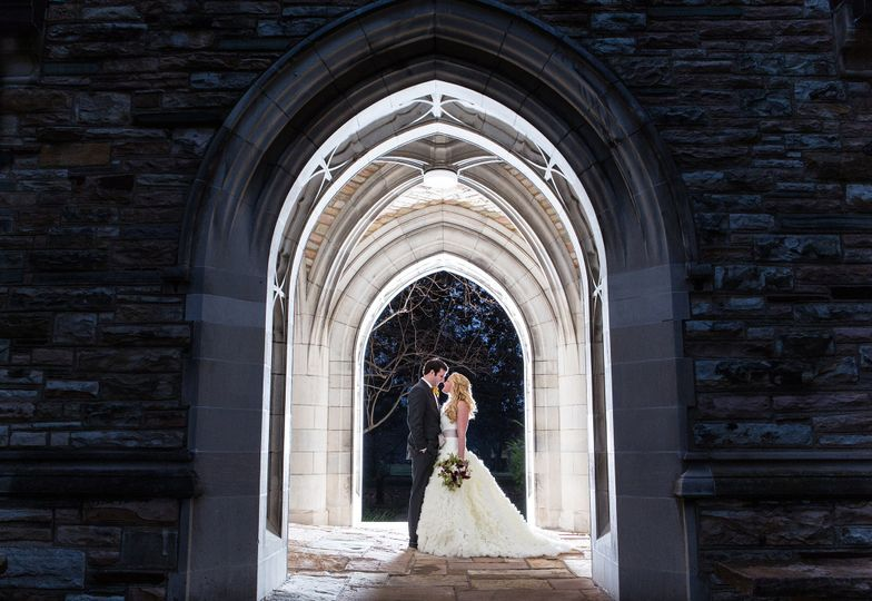 Stunning winter photo under the gothic arches!  Photo: Matt Andrews