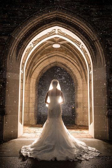 Another stunning winter shot under the arches on the grounds  Photo: Matt Andrews