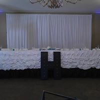 White curtains and table