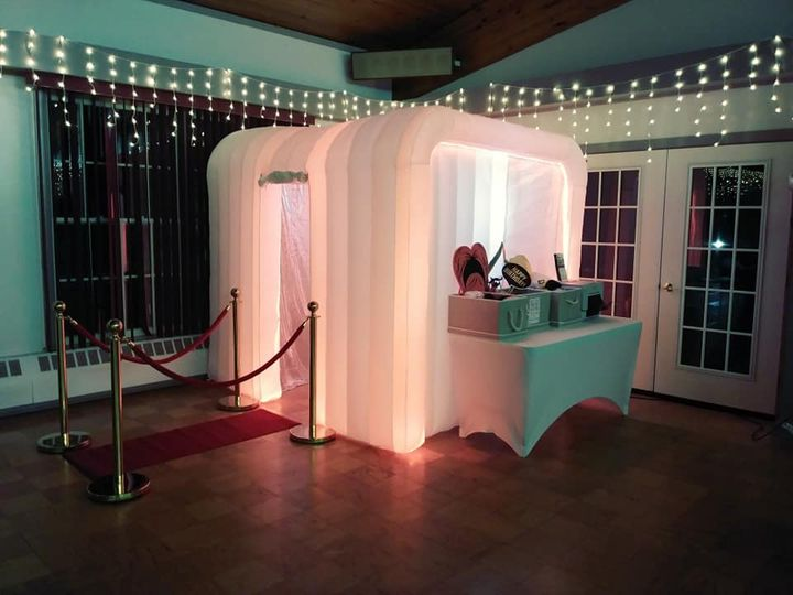 The photo booth set-up