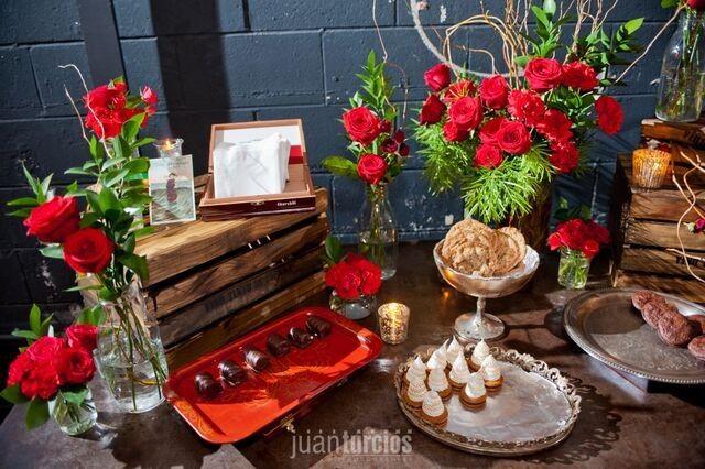 dessert table latin speakeasy closeup
