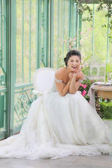 Giggling bride