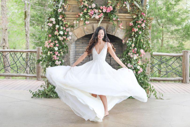 Beautiful spinning bride