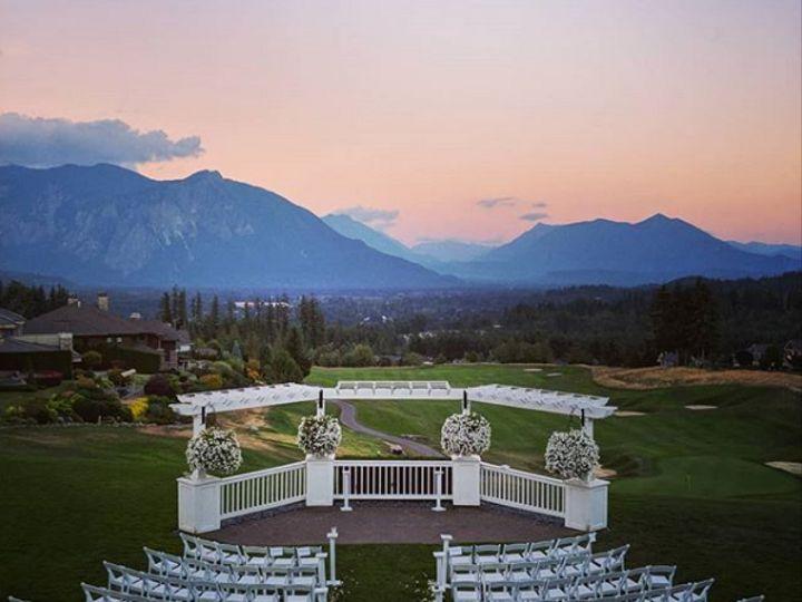 Tmx Ceremony Set With Sunset 51 144303 159433550156033 Snoqualmie, WA wedding venue