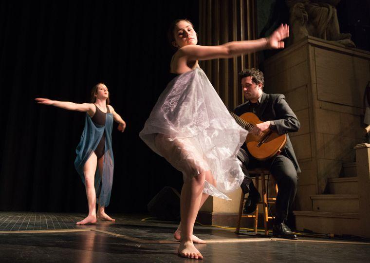 At a ballet recital