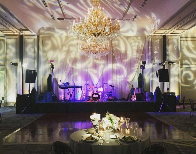 Band set-up at wedding