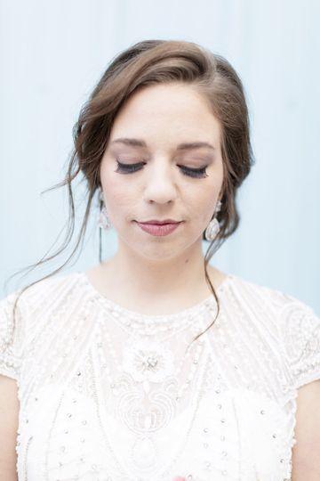 Dreamy bride portrait
