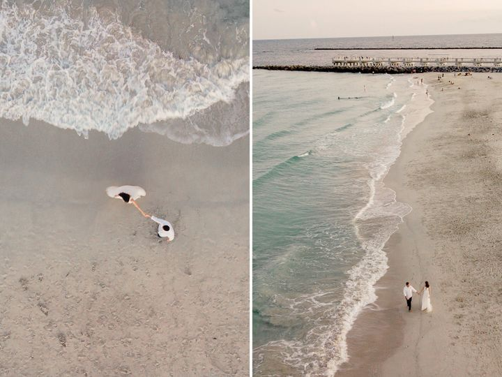 Drone Shot over Beach