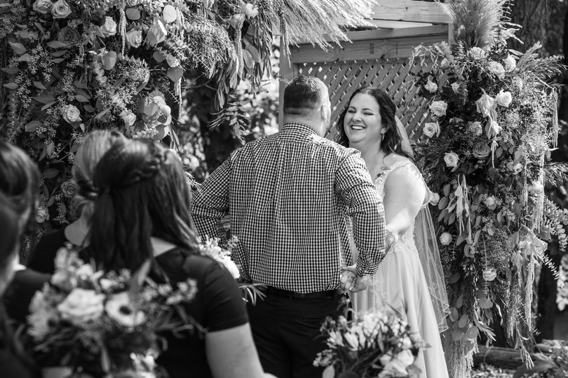 Candid ceremony moment