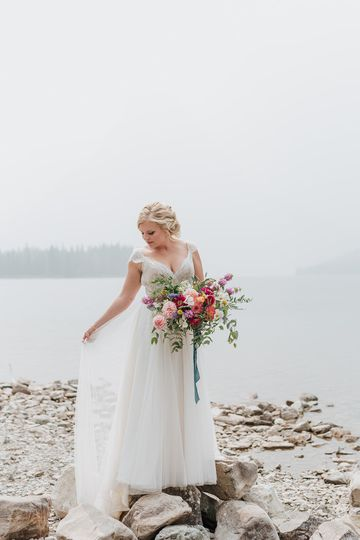 Bride at Lake