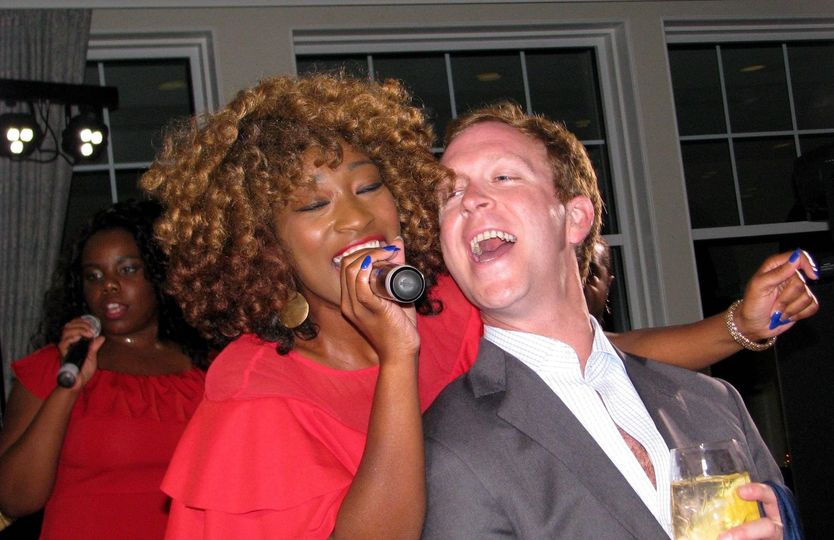 Singing with the newlyweds