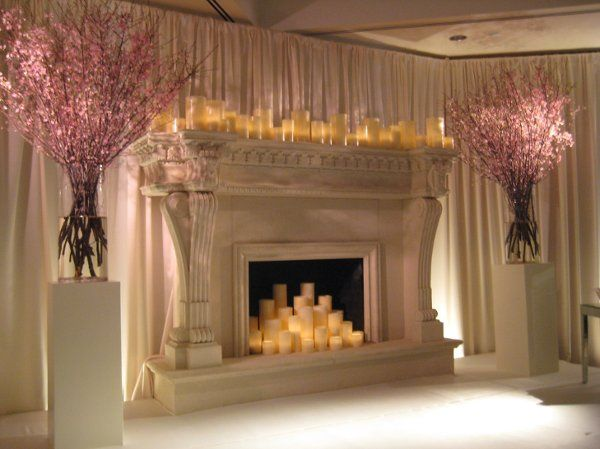 This custom designed fireplace was the focal point for the ceremony and the reception!