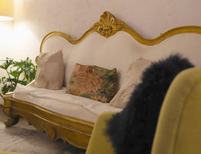 Antique Gilt Rococo Sofa