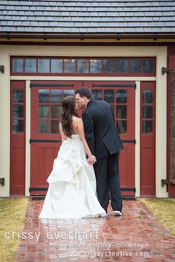 Kissing couple Crissy Everhart Photography