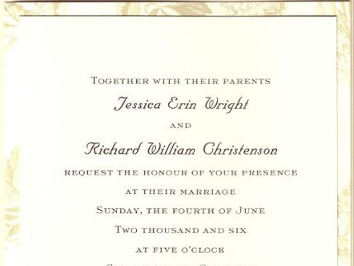 Tmx 1326995791510 Wrightchristenson Sherborn wedding invitation