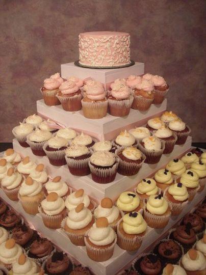 Pink Cupcake wedding