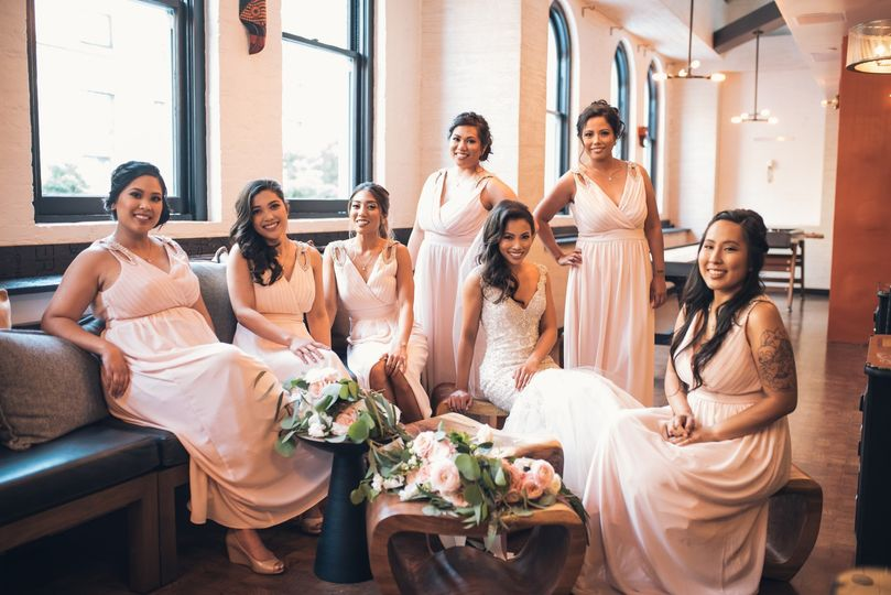 Bridal party in Arriba